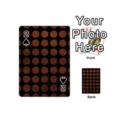 Circles1 Black Marble & Dull Brown Leather (r) Playing Cards 54 (mini)  by trendistuff