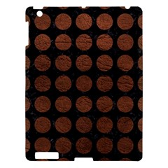 Circles1 Black Marble & Dull Brown Leather (r) Apple Ipad 3/4 Hardshell Case by trendistuff
