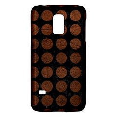 Circles1 Black Marble & Dull Brown Leather (r) Galaxy S5 Mini by trendistuff