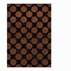 Circles2 Black Marble & Dull Brown Leather (r) Small Garden Flag (two Sides) by trendistuff
