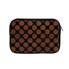 Circles2 Black Marble & Dull Brown Leather (r) Apple Macbook Pro 15  Zipper Case by trendistuff