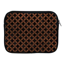 Circles3 Black Marble & Dull Brown Leather (r) Apple Ipad 2/3/4 Zipper Cases by trendistuff