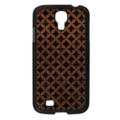 Circles3 Black Marble & Dull Brown Leather (r) Samsung Galaxy S4 I9500/ I9505 Case (black) by trendistuff