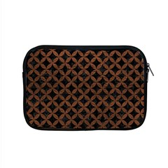 Circles3 Black Marble & Dull Brown Leather (r) Apple Macbook Pro 15  Zipper Case by trendistuff