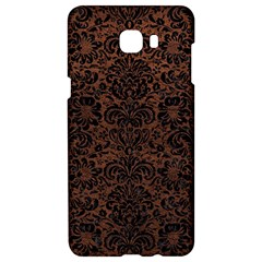 Damask2 Black Marble & Dull Brown Leather Samsung C9 Pro Hardshell Case  by trendistuff