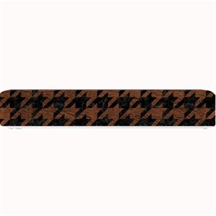 Houndstooth1 Black Marble & Dull Brown Leather Small Bar Mats by trendistuff
