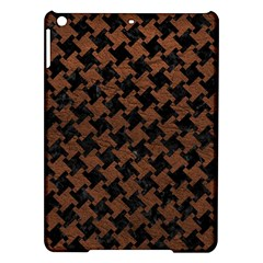 Houndstooth2 Black Marble & Dull Brown Leather Ipad Air Hardshell Cases by trendistuff