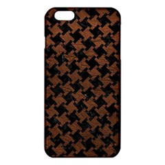 Houndstooth2 Black Marble & Dull Brown Leather Iphone 6 Plus/6s Plus Tpu Case by trendistuff