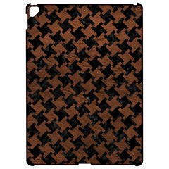 Houndstooth2 Black Marble & Dull Brown Leather Apple Ipad Pro 12 9   Hardshell Case by trendistuff