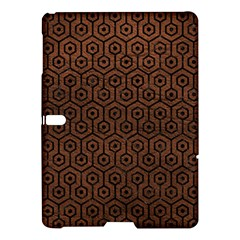 Hexagon1 Black Marble & Dull Brown Leather Samsung Galaxy Tab S (10 5 ) Hardshell Case  by trendistuff