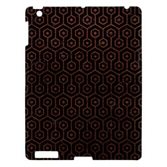 Hexagon1 Black Marble & Dull Brown Leather (r) Apple Ipad 3/4 Hardshell Case by trendistuff