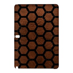 Hexagon2 Black Marble & Dull Brown Leather Samsung Galaxy Tab Pro 12 2 Hardshell Case by trendistuff