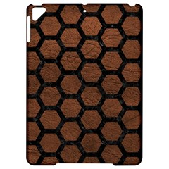 Hexagon2 Black Marble & Dull Brown Leather Apple Ipad Pro 9 7   Hardshell Case by trendistuff