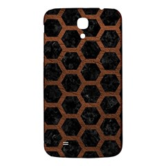Hexagon2 Black Marble & Dull Brown Leather (r) Samsung Galaxy Mega I9200 Hardshell Back Case by trendistuff