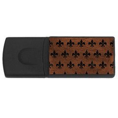 Royal1 Black Marble & Dull Brown Leather (r) Rectangular Usb Flash Drive by trendistuff