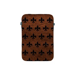 Royal1 Black Marble & Dull Brown Leather (r) Apple Ipad Mini Protective Soft Cases by trendistuff