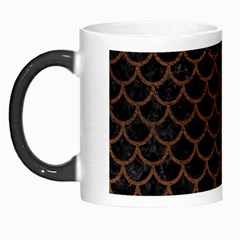 Scales1 Black Marble & Dull Brown Leather (r) Morph Mugs by trendistuff