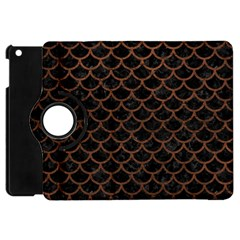 Scales1 Black Marble & Dull Brown Leather (r) Apple Ipad Mini Flip 360 Case by trendistuff