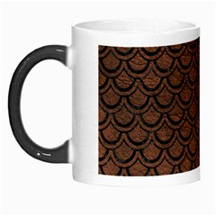 Scales2 Black Marble & Dull Brown Leather Morph Mugs by trendistuff
