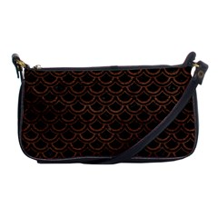 Scales2 Black Marble & Dull Brown Leather (r) Shoulder Clutch Bags by trendistuff