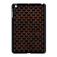 Scales3 Black Marble & Dull Brown Leather (r) Apple Ipad Mini Case (black) by trendistuff