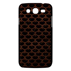 Scales3 Black Marble & Dull Brown Leather (r) Samsung Galaxy Mega 5 8 I9152 Hardshell Case  by trendistuff
