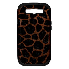 Skin1 Black Marble & Dull Brown Leather Samsung Galaxy S Iii Hardshell Case (pc+silicone) by trendistuff