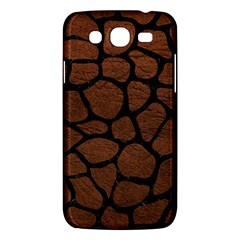 Skin1 Black Marble & Dull Brown Leather (r) Samsung Galaxy Mega 5 8 I9152 Hardshell Case  by trendistuff