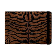 Skin2 Black Marble & Dull Brown Leather Apple Ipad Mini Flip Case by trendistuff