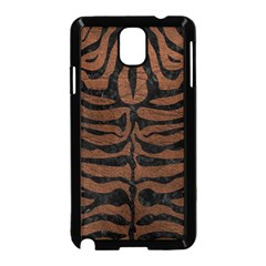 Skin2 Black Marble & Dull Brown Leather Samsung Galaxy Note 3 Neo Hardshell Case (black) by trendistuff