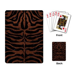 Skin2 Black Marble & Dull Brown Leather (r) Playing Card by trendistuff