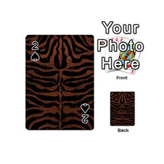 Skin2 Black Marble & Dull Brown Leather (r) Playing Cards 54 (mini)  by trendistuff