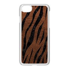 Skin3 Black Marble & Dull Brown Leather Apple Iphone 7 Seamless Case (white) by trendistuff