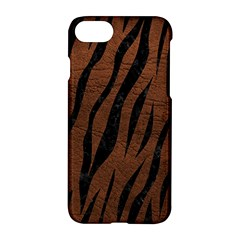 Skin3 Black Marble & Dull Brown Leather Apple Iphone 8 Hardshell Case