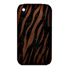 Skin3 Black Marble & Dull Brown Leather (r) Iphone 3s/3gs by trendistuff
