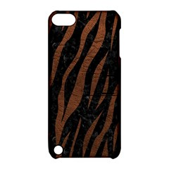 Skin3 Black Marble & Dull Brown Leather (r) Apple Ipod Touch 5 Hardshell Case With Stand by trendistuff