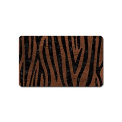 Skin4 Black Marble & Dull Brown Leather (r) Magnet (name Card) by trendistuff
