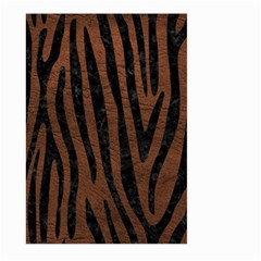 Skin4 Black Marble & Dull Brown Leather (r) Large Garden Flag (two Sides) by trendistuff