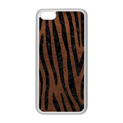 Skin4 Black Marble & Dull Brown Leather (r) Apple Iphone 5c Seamless Case (white)