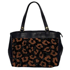 Skin5 Black Marble & Dull Brown Leather Office Handbags (2 Sides)  by trendistuff