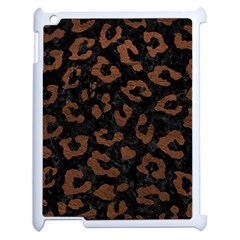 Skin5 Black Marble & Dull Brown Leather Apple Ipad 2 Case (white)