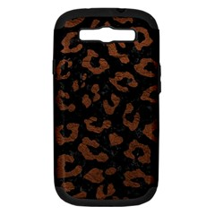 Skin5 Black Marble & Dull Brown Leather Samsung Galaxy S Iii Hardshell Case (pc+silicone) by trendistuff