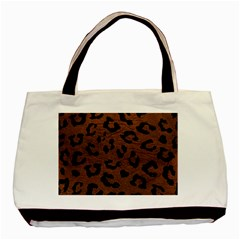 Skin5 Black Marble & Dull Brown Leather (r) Basic Tote Bag by trendistuff