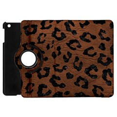 Skin5 Black Marble & Dull Brown Leather (r) Apple Ipad Mini Flip 360 Case by trendistuff