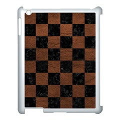 Square1 Black Marble & Dull Brown Leather Apple Ipad 3/4 Case (white) by trendistuff