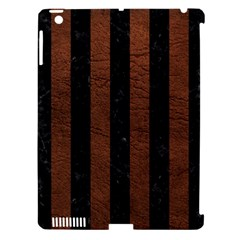 Stripes1 Black Marble & Dull Brown Leather Apple Ipad 3/4 Hardshell Case (compatible With Smart Cover) by trendistuff