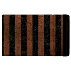 Stripes1 Black Marble & Dull Brown Leather Apple Ipad Pro 12 9   Flip Case by trendistuff