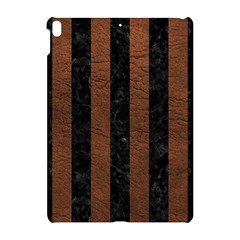 Stripes1 Black Marble & Dull Brown Leather Apple Ipad Pro 10 5   Hardshell Case by trendistuff