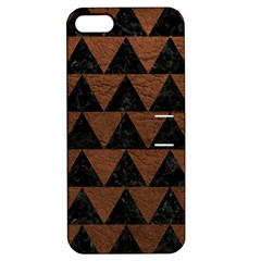 Triangle2 Black Marble & Dull Brown Leather Apple Iphone 5 Hardshell Case With Stand by trendistuff