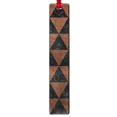 Triangle3 Black Marble & Dull Brown Leather Large Book Marks by trendistuff